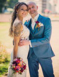 Prachtige trouwjurk met romantisch kant
