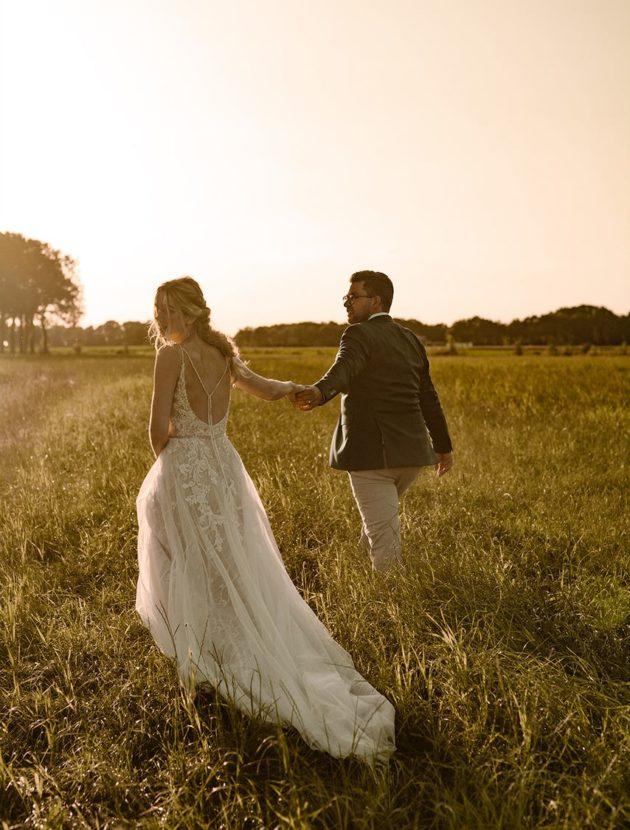 Romantische pronovias trouwjurk met bijzondere details