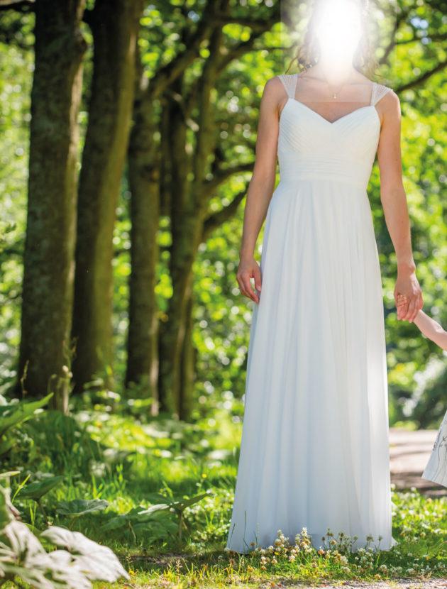 Prachtige bohemian strand stijl trouwjurk – maat 38