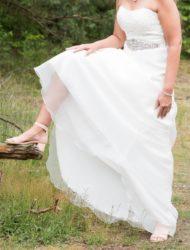 Strappless A lijn bruidsjurk