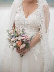 Bohemian trouwjurk incl sluier van Enzoani