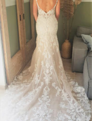 Prachtige nieuwe trouwjurk van Enzoani met lage rug