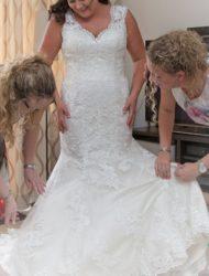 Morilee trouwjurk gekocht in Mei 2018 en 1 keer gedragen.