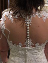 Ladybird trouwjurk met kanten rug