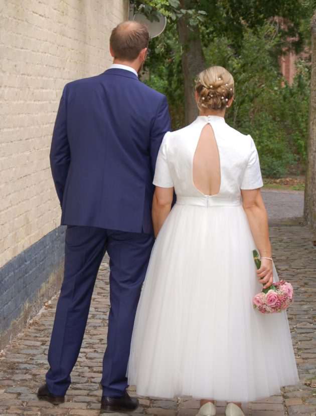 Mooie vintage stijl trouwjurk Jarice maat 42