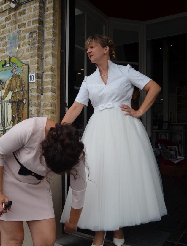 Mooie vintage stijl trouwjurk van Jarice maat 42