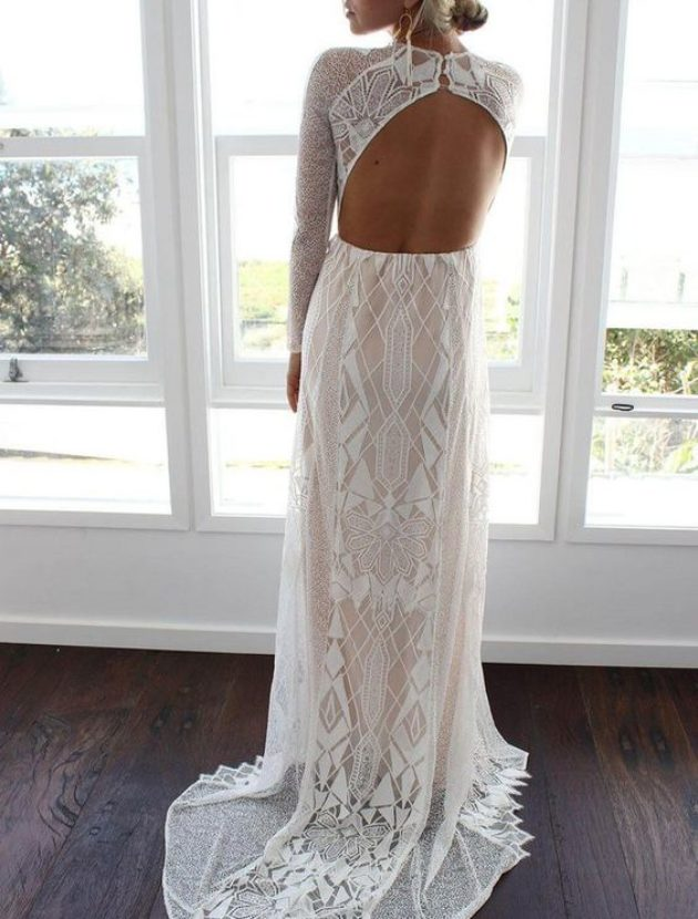 "Grace loves lace ""Soho"" gown, bohemian, kant, maat 38"