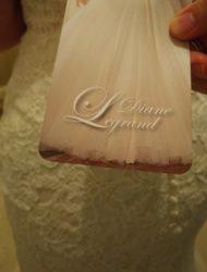 Trouwjurk Diane Legrand NIEUW (niet vermaakt) met aankoopbon+prijskaart