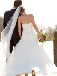 Strapless A-lijn jurk, maat 34/36