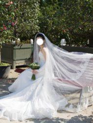Handgemaakte trouwkleed