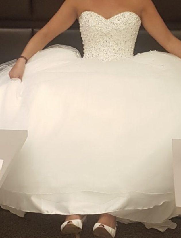 Strapless prinses trouwjurk