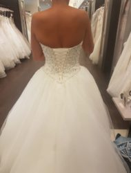 Strapless prinses trouwjurk