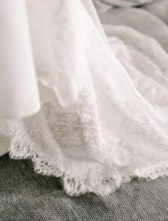 Pronovias trouwjurk met prachtige kanten rug te koop