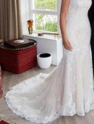 Prachtige trouwjurk van ladybird ivoor-champagne