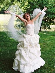 Prachtige trouwjurk met mooie details, topje los van rok.
