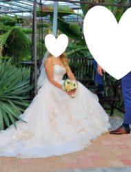 Prachtige ballgown trouwjurk – 38 – Le Papillion