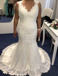 Sexy bruidsjurk van prachtig elastisch kant nieuw mt 38.