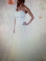 Mooie strapless jurk ivoor wit 1x gedragen