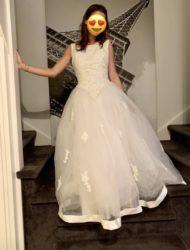 Een echte prinsessenjurk van het merk Mori Lee.