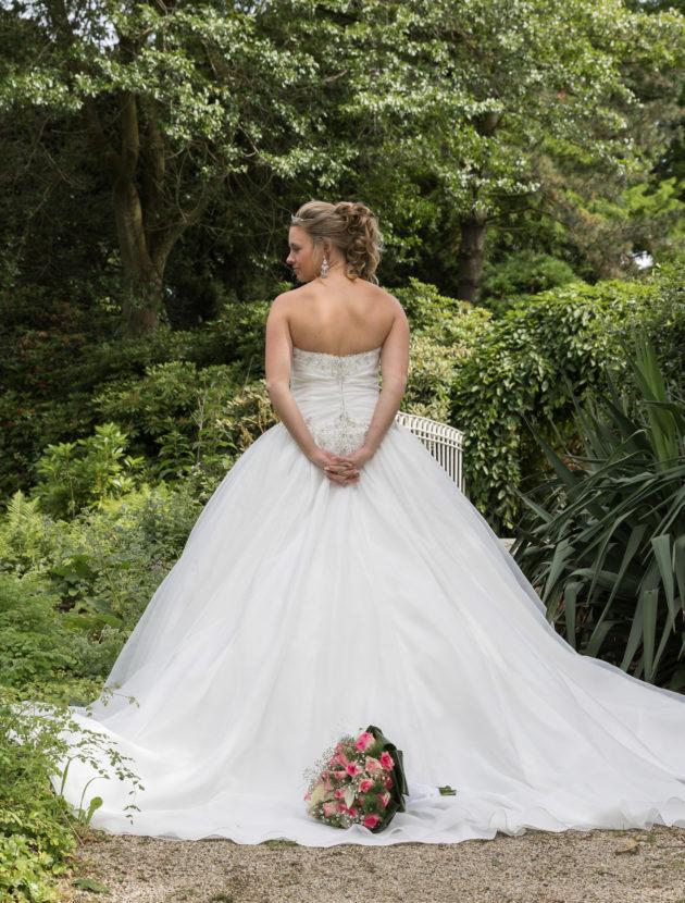 Schitterdende prinsessen trouwjurk 1x met veel plezier gedragen