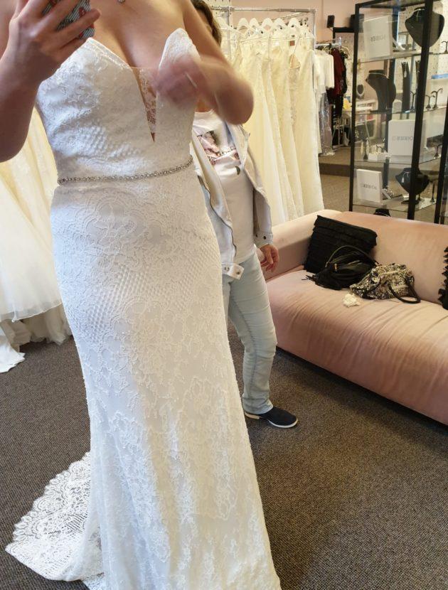 Nieuwe ongedragen trouwjurk Pronovias