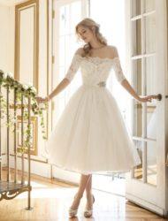 Romantische trouwjurk Justin Alexander kort maat 36 (nooit gedragen)