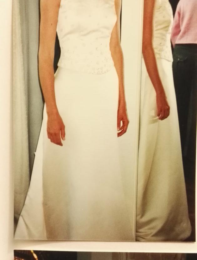 A line trouwjurk gekocht bij van Oss