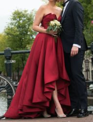 Prachtige rode designer trouwjurk / baljurk / galajurk -mt 38/40