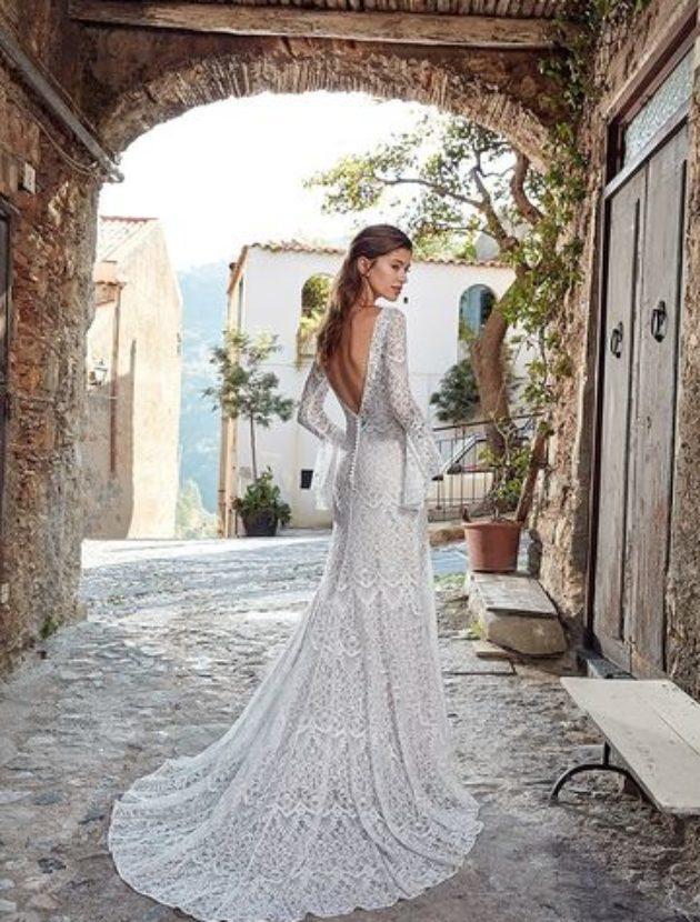 Bohemian trouwjurk van Eddy K