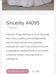 Sincerity 44095 maat 38