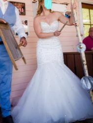 Blu by MoriLee model 5215 mermaid ; Sparkling Allover Crystal Beading on Tulle